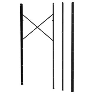 BROR oρθοστάτης, 4 τεμ., Μαύρο   IKEA Ελλάδα
