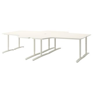 BEKANT σύνθεση γραφείου, Λευκό | IKEA Ελλάδα