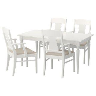 INGATORPINGATORP τραπέζι και 4 καρέκλες, Λευκό | IKEA Ελλάδα