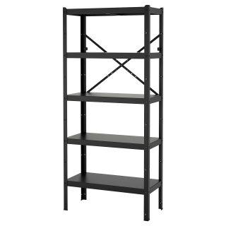 BROR ραφιέρα, Μαύρο   IKEA Ελλάδα