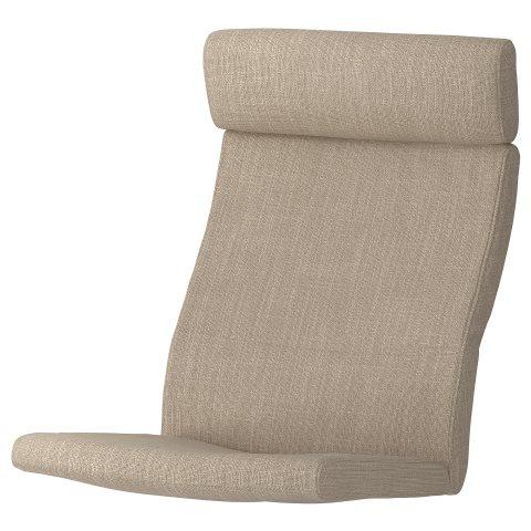 POANG armchair cushion, Beige | IKEA Greece