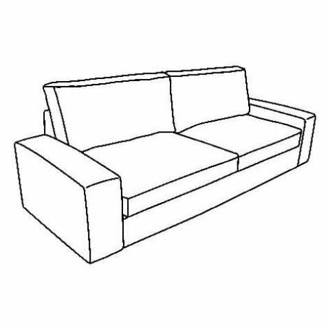 Kivik 4 Seat Sofa With Chaise Longue Grey Ikea Greece
