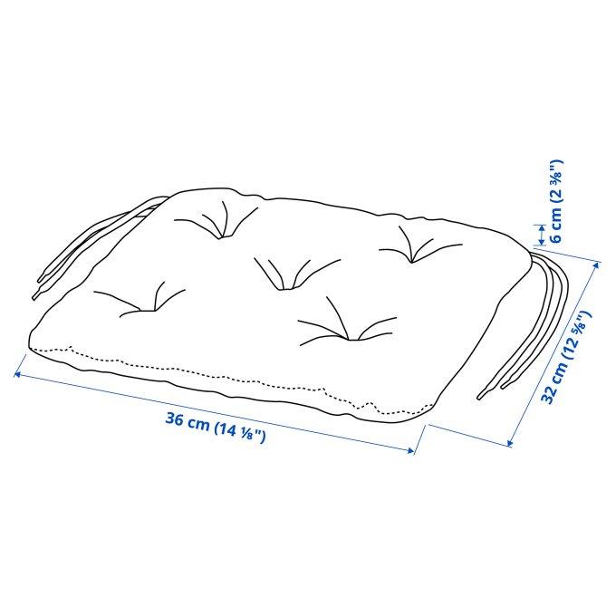 KUDDARNA μαξιλάρι καρέκλας, εξωτερικού χώρου, Γκρι   IKEA Ελλάδα
