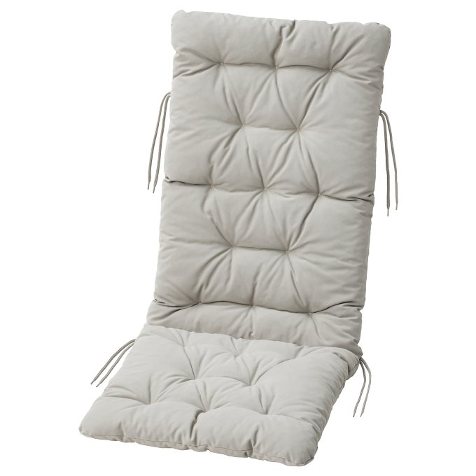 KUDDARNA μαξιλάρι καθίσματοςπλάτης, εξωτερικού χώρου, Γκρι