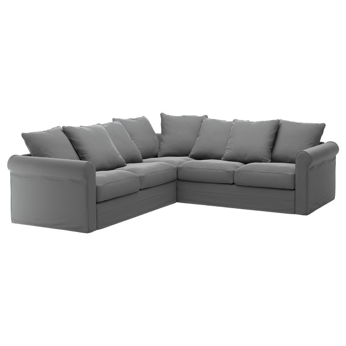 GRONLID corner sofa, 4-seat, Grey | IKEA Greece