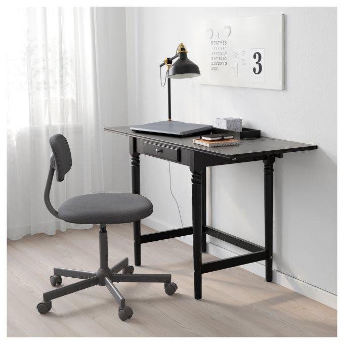 INGATORP γραφείο, Μαύρο   IKEA Ελλάδα