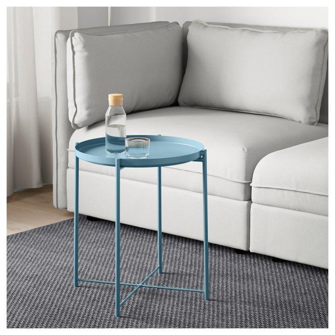 GLADOM τραπέζι δίσκος, Μπλε   IKEA Ελλάδα