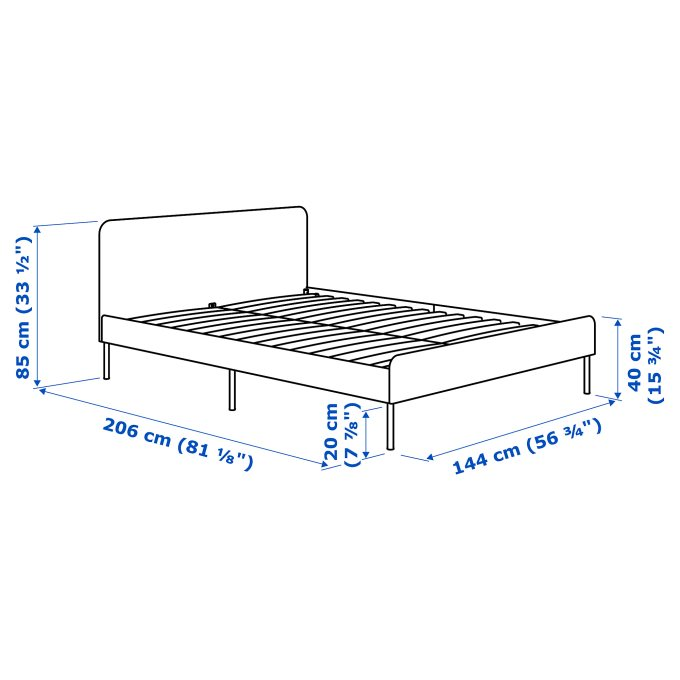 Assembly Instructions For Ikea Platform Bed, Ikea Bed Frame With Storage Instructions