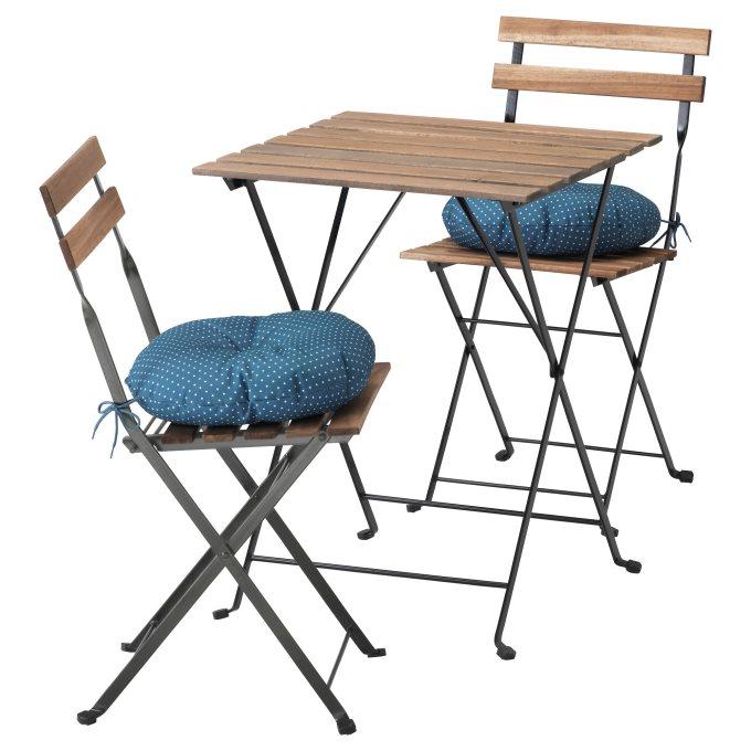 TARNO τραπέζι και 2 καρέκλες, εξωτερικού χώρου, Μπλε | IKEA