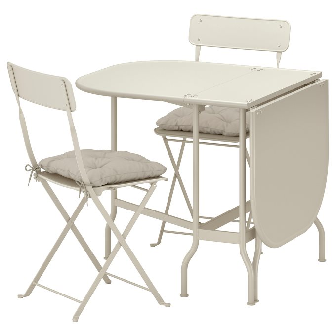 SALTHOLMEN gateleg table2 chairs, outdoor, Grey | IKEA Greece