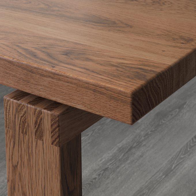 MORBYLANGA τραπέζι, ξύλο βελανιδιάς, Καφέ   IKEA Ελλάδα