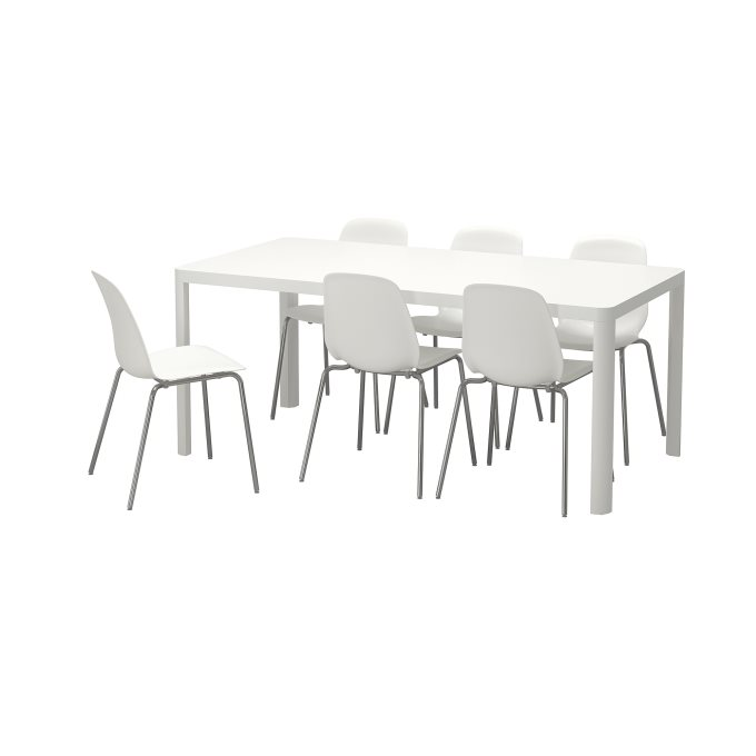 TINGBYLEIFARNE table and 6 chairs, White   IKEA Greece