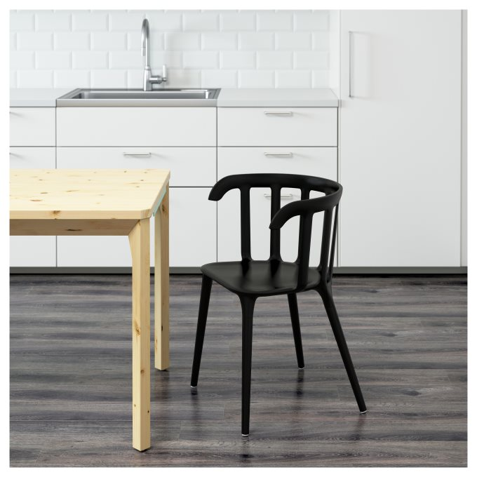 IKEAPS2012 καρέκλα με μπράτσα, Μαύρο | IKEA Ελλάδα