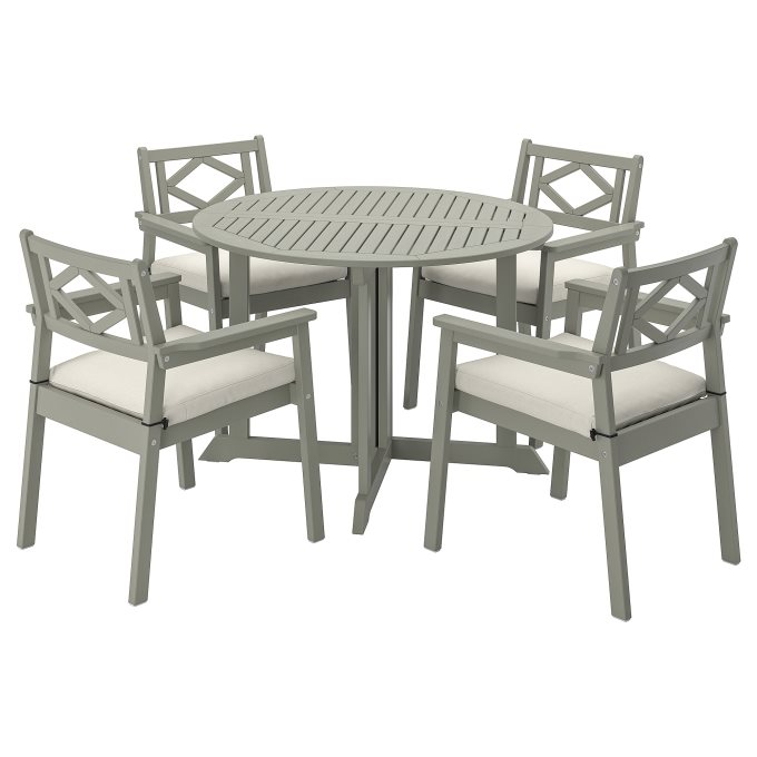 BONDHOLMEN τραπέζι+4 καρέκλες με μπράτσα, εξωτερικού χώρου