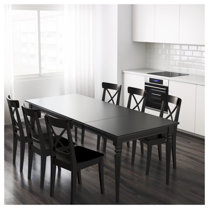 INGATORP επεκτεινόμενο τραπέζι, Μαύρο | IKEA Ελλάδα
