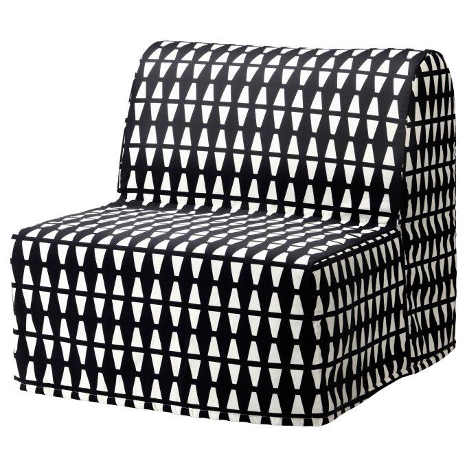 LYCKSELE LOVAS πολυθρόνα κρεβάτι, Άσπρο Μαύρο | IKEA Ελλάδα