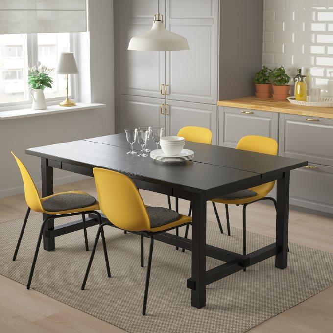 NORDVIKENLEIFARNE τραπέζι και 4 καρέκλες, Κίτρινο   IKEA Ελλάδα
