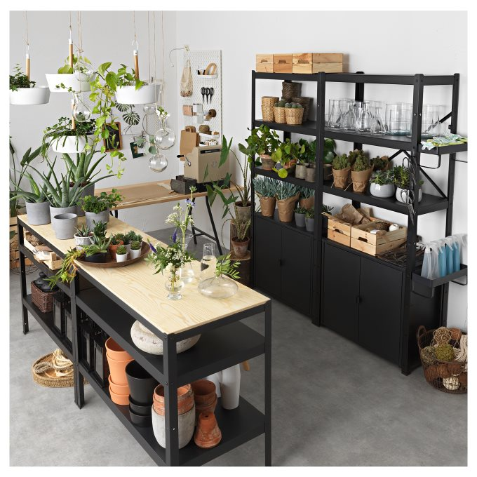 BROR πάγκος εργασίας, Μαύρο   IKEA Ελλάδα