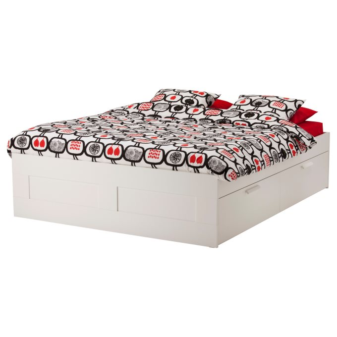 Brimnes Bed Frame With Storage Ikea, Ikea Brimnes Queen Bed With Storage