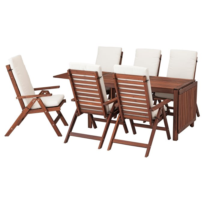 Applaro Table 6 Reclining Chairs Outdoor Beige Ikea Greece