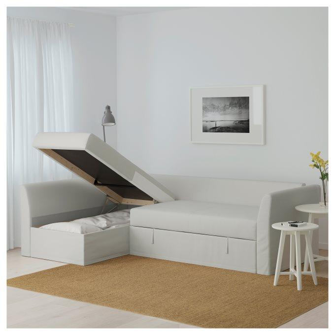 holmsund corner sofabed, white  ikea greece