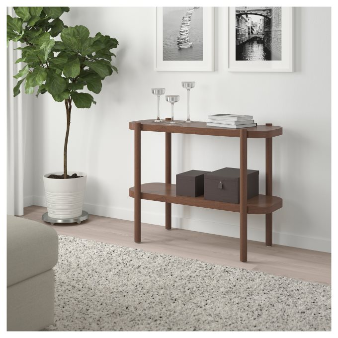 LISTERBY console table, Brown | IKEA Greece