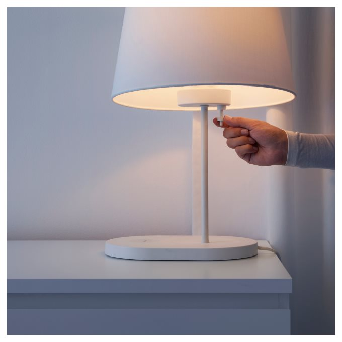 Varv Table Lamp Base With Wireless Charging Ikea Greece