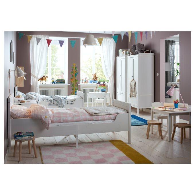 SUNDVIK extendable bed frame with slatted bed base | IKEA ...