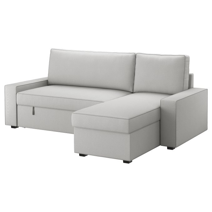 Vilasund Cover Sofa Bed With Chaise Longue Grey Ikea Greece