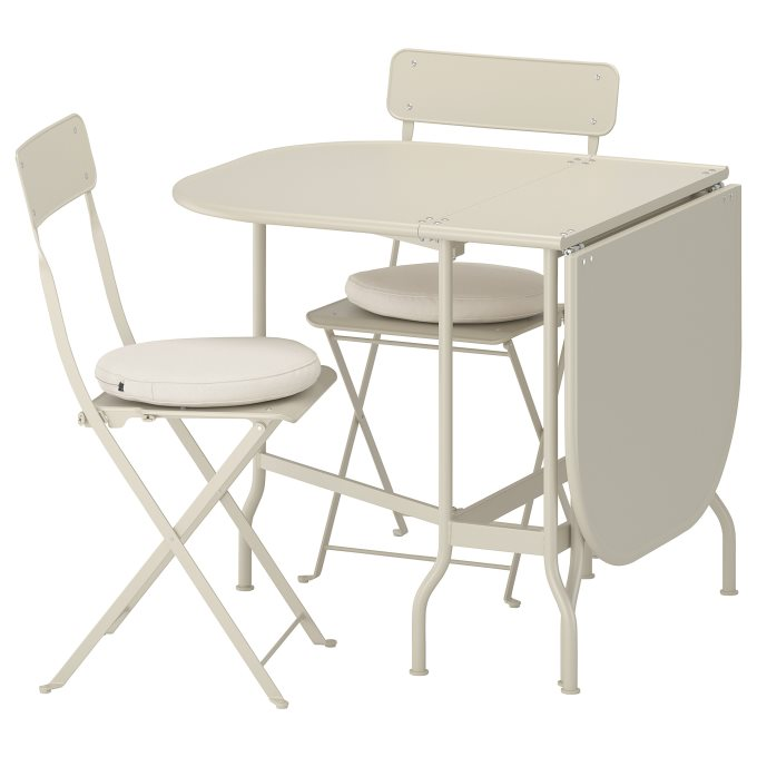 gateleg table2 chairs, outdoor