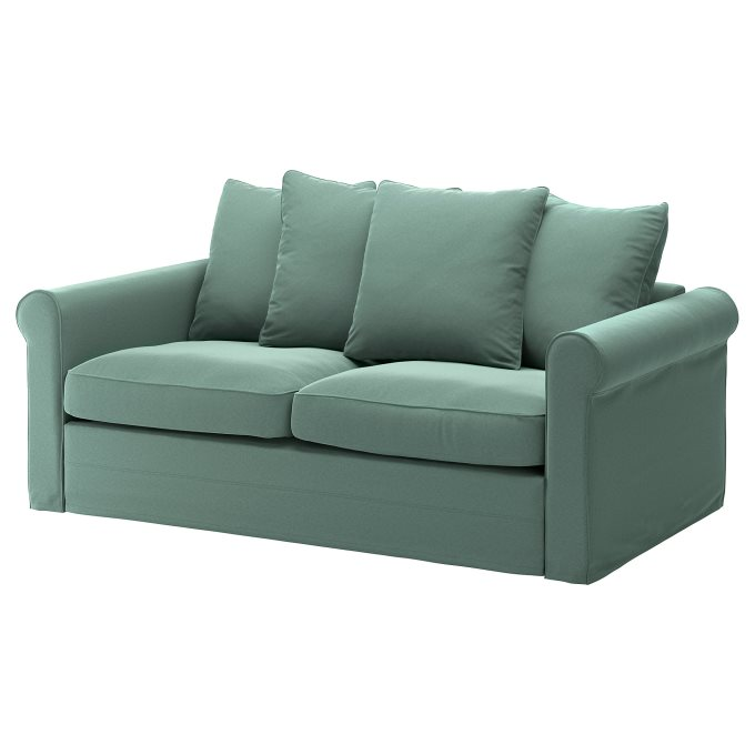 GRONLID 2-seat sofa-bed, Green | IKEA Greece