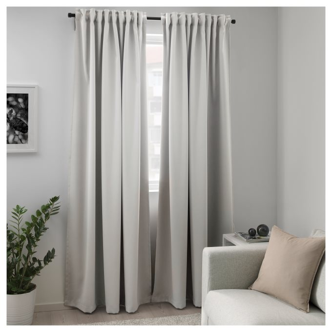 majgull block out curtains 1 pair curtains ikea greece